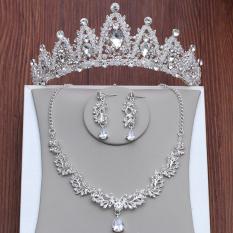Review Set Perhiasan Kalung Anting Mahkota Untuk Pengantin Wanita Oem Di Tiongkok
