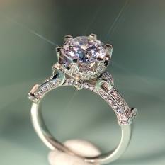 Mahkota Perempuan Enam Cakar Kuncup Bunga Cincin Cincin Berlian