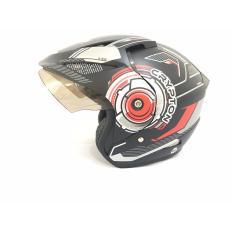 Toko Crypton Helm Helmet Dewasa Hitam Doff Merah Termurah
