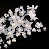 Jual Crystal Faul Pearl Bridal Pernikahan Brides Bunga Kawat Rambut Pin Intl Murah Di Tiongkok