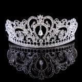 Jual Berlian Imitasi Kristal Tiara Mahkota Rambut Pengantin Kekuatan Tinggi Hot Topi Baja Kontes Pernikahan Perak Oem Original