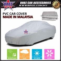 Cschina Proton Saga Tua Dibuat Di Malaysia PVC Berkualitas Tinggi Mobil Sarung Sunproof Tahan Debu Air Tahan Pelindung Anti UV Menggaruk Sedan Sarung-L Ukuran 470X180X119 Cm-Internasional