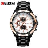 Beli Curren 8023 Pria Jam Tangan Quartz Watch Tahan Air Hitam Emas Putih Nyicil