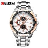 Harga Curren 8023 Pria Jam Tangan Quartz Watch Tahan Air Silver Gold New