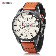 Jual Curren 8250 Pria Quartz Watch Dekoratif Sub Dial Luminous Pria Arloji Intl Tiongkok