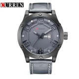 Beli Curren 8251 Men S Sports Waterproof Leather Strap Date Week Watch Original Brand Intl Online Tiongkok