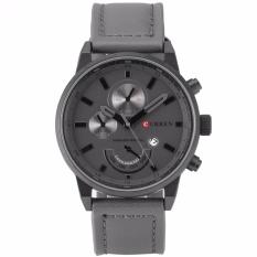Review Terbaik Curren Fashion Pria Olahraga Tanggal Analog Quartz Leather Stainless Steel Wrist Watch Cur118 Jam Tangan Pria Kulit Intl