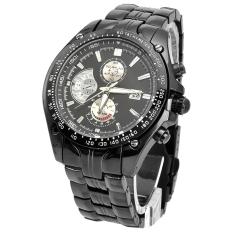 Toko Curren Pria Stainless Steel Strap Watch Hitam Curren