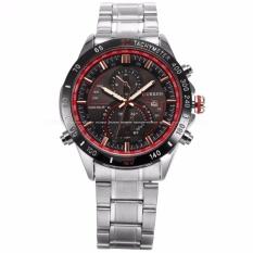 Harga Curren Pria Stylish Tampilan Tanggal Silver Stainless Steel Band Sport Quartz Wrist Watch Cur041 Jam Tangan Pria Intl Baru