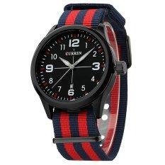 Harga Hemat Curren Populer Merek Watch Pria Kasual Kain Nilon Jam Tangan Pria Men Sports Military Quartz Watch Pria Watches Relojes Hombre 2016 Intl