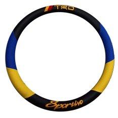 Spesifikasi Cover Sarung Stir Setir Steer Mobil Universal Sport Racing Biru Kuning Lengkap Dengan Harga