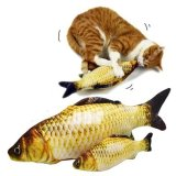 Ulasan Tentang Cute Pet Kucing Ikan Bentuk Menggaruk Mainan Kucing Mint Interaktif Bermain Mengunyah Rattle Mainan M