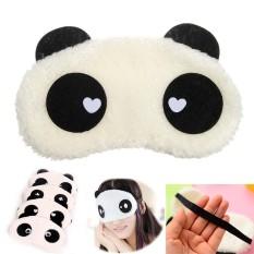 Cute Panda Soft Cotton Perjalanan Tidur Masker Mata Tidur Shade Cover Penutup Mata Hadiah-Intl