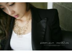 Ulasan Tentang Cx220 Korea Fashion Style Emas Lempeng Besi Berongga Rantai Sweater Kalung
