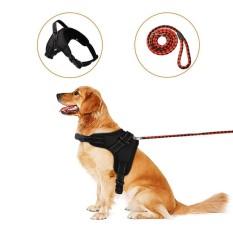 Cyber Diskon Besar Pet Anjing Puppy Adjustable Kerah Dada Harness Nylon Training Rompi-Internasional By Happydeal365