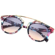 Toko Cyber Lady Wanita Outdoor Round Glass Metal Casing Full Frame Sunglasses Online Di Indonesia