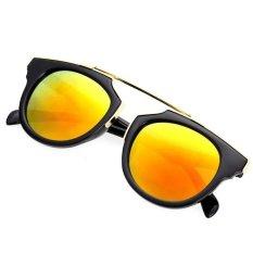 Harga Cyber Lady Wanita Outdoor Round Glass Metal Casing Full Frame Sunglasses Merah Paling Murah