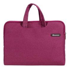 Cyber Lembut Netbook Case Kantong Lengan Baju Tas Laptop + Pegangan For Menyembunyikan 39.62 Cm 35.81 Cm 36.83 Cm Laptop (Merah)