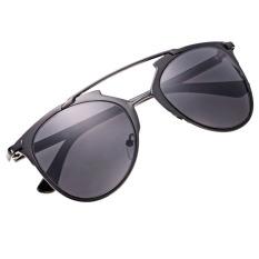 Cyber Unisex Wanita Pria Mirror Lens Sunglasses Kacamata Kacamata Bingkai Logam Grey Indonesia Diskon 50