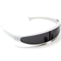 Review Kacamata Hitam Bermata Nuansa Sunnies Cermin Ruang Gelap Robot Perisai Kostum Makhluk Asing Oem