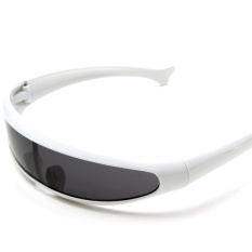 Kacamata Hitam Bermata Sunnies Cermin Ruang Gelap Robot Alien Perisai Kostum-Internasional