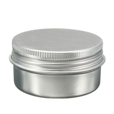 D-Pocket 30 Ml Kosong Kosmetik Krim Toples Pot Tin Aluminium Wadah Sekrup Lidnail Baru-Internasional