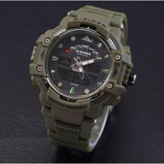 D-ziner D-64TER8 Dual Time Jam Tangan Pria Rubber Strap