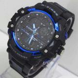 Katalog D Ziner Dual Time Dz 8078 Black Blue Jam Tangan Pria Strap Karet Terbaru