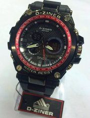 Jual Beli D Ziner Dual Time Dz 8132 Jam Tangan Sport Pria Rubber Strap Black Red Ring Di Dki Jakarta