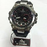 Review D Ziner Dual Time Dz 8132 Jam Tangan Sport Pria Rubber Strap Black Silver Red Di Dki Jakarta