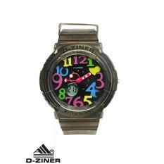 Beli D Ziner Dz 3287 Dual Time Jam Tangan Wanita Rubber Strap Kredit