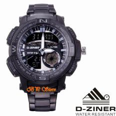 Spesifikasi D Ziner Dz8128 Original Jam Tangan Sport Pria Dual Time Stainlessteel Waterresist Yang Bagus Dan Murah