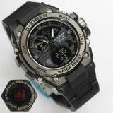 Katalog D Ziner Jam Tangan Sport Dual Time 8139 Black Terbaru