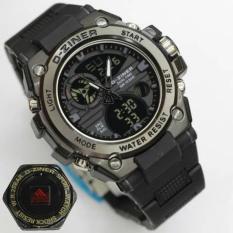 Toko Jual D Ziner Jam Tangan Sport Dual Time 8139 Black