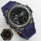 Promo D Ziner Jam Tangan Sport Dual Time 8139 Blue D Ziner
