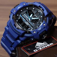Diskon Produk D Ziner Jam Tangan Sport Dual Time Pria 1104B Blue
