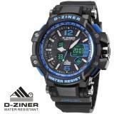 Jual Beli Online D Ziner Jam Tangan Sport Dual Time Pria Dz 9456 Zr