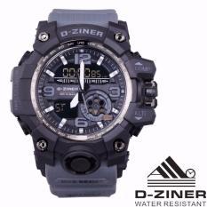 Harga D Ziner Jam Tangan Sport Olahraga Dual Time Dz 8119 Abu Abu Original