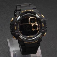 Jual D Ziner Jam Tangan Sport Pria Rubber Strap Dz8130 Black Yellow Branded Murah