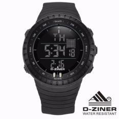 D-ziner Original Core Jam Tangan Sport Olahraga  Digital Rame DZ-8180 - Black - FREE BOX Exlusive