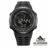 Spesifikasi D Ziner Original Dz8187 Jam Tangan Pria Strap Karet Hitam Dan Harga