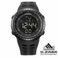 Spesifikasi D Ziner Original Dz8187 Jam Tangan Pria Strap Karet Hitam Baru
