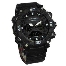 Top 10 D Ziner Ranger D 99Gv1 Dual Time Jam Tangan Pria Rubber Strap Online