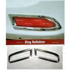 Aksesoris Mobil Daihatsu Toyota All New Xenia Avanza Garnish Lis Ring Reflektor Lampu Belakang Rem Sen Sein Garnis List Chrome Krom Silver Asesoris Mobil Acesoris Mobil Avanza Xenia