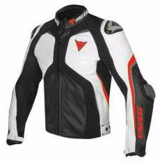 Harga Dainese Super Rider Leather Jacket Black White Red Terbaru