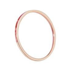 Dainty Cincin Rose Gold Diisi Stacking Ring Halus Hammered Cincin Hadiah untuk Nya-Intl