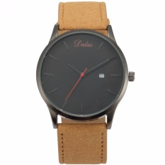 Jual Dalas Fashion Mens Quartz Analog Military White Sport Wrist Watch Synthetic Brown Leather Band Waa943 Jam Tangan Pria Kulit Intl Branded Murah