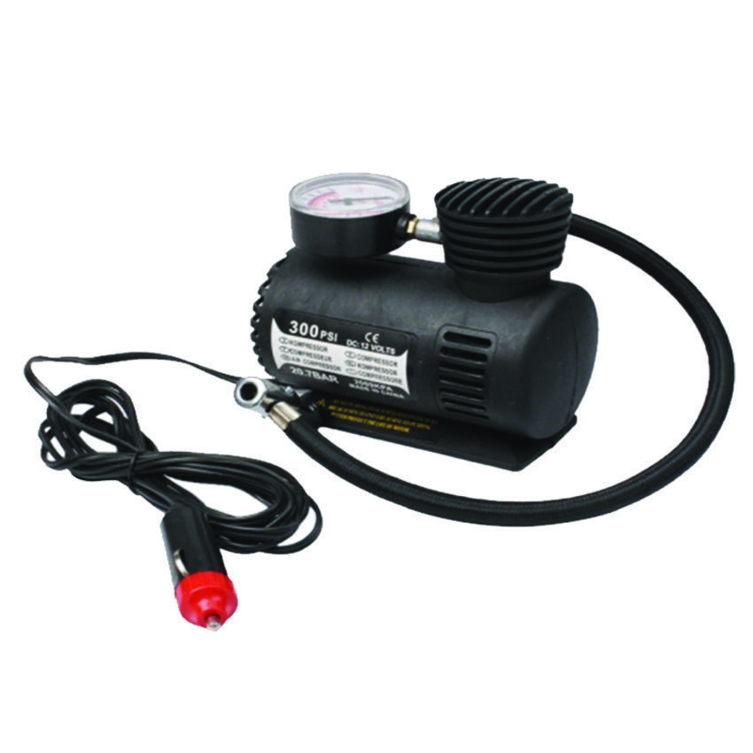 Kabel panjang Damura Air Compressor 12V 300PSI Pompa Ban Mobil/Motor Elektrik - Hitam