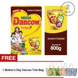 Harga Dancow Fortigro Cokelat 800Gr 2 Pcs Gratis 1 Mother S Day Canvas Tote Bag Yang Murah