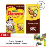 Harga Dancow Fortigro Cokelat 800G 3 Pcs Gratis 1 Sch**l Package B Pencase Ar Book Tumblr Dancow Fortigro Ori